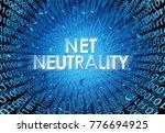 net neutrality concept as an... | Shutterstock . vector #776694925