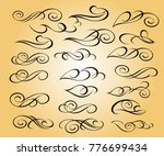 set of decorative elements.... | Shutterstock .eps vector #776699434