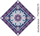 indian rug paisley ornament... | Shutterstock .eps vector #776700175