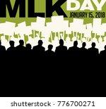 poster or banner for martin... | Shutterstock .eps vector #776700271