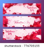 happy holidays  valentines day... | Shutterstock .eps vector #776705155
