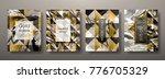 gold marble template set ... | Shutterstock .eps vector #776705329