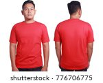 blank tshirt mock up  front and ... | Shutterstock . vector #776706775