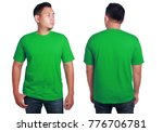 blank tshirt mock up  front and ... | Shutterstock . vector #776706781