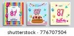 vector sets of 87 years... | Shutterstock .eps vector #776707504