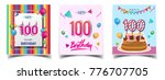 vector sets of 100 years... | Shutterstock .eps vector #776707705