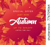 autumn sale vector illustration | Shutterstock .eps vector #776709064
