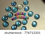 merry christmas happy holidays...   Shutterstock . vector #776712331