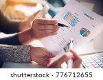businessmen working with laptop ... | Shutterstock . vector #776712655