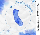 california watercolor us state... | Shutterstock .eps vector #776716234