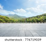empty square floor and green... | Shutterstock . vector #776719039