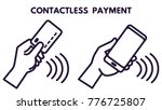 nfc technology payment vector... | Shutterstock .eps vector #776725807