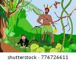 green jungle backgound ... | Shutterstock .eps vector #776726611