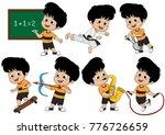 set of kid activity  kid... | Shutterstock .eps vector #776726659