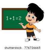 kid learing math in class... | Shutterstock .eps vector #776726665