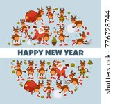 merry christmas and happy new... | Shutterstock .eps vector #776728744
