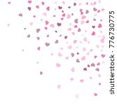 heart confetti beautifully... | Shutterstock .eps vector #776730775