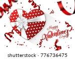 happy valentine's day festive... | Shutterstock . vector #776736475