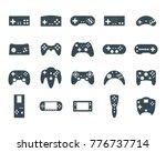 cartoon silhouette black... | Shutterstock .eps vector #776737714