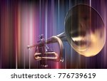 abstract blue music background... | Shutterstock .eps vector #776739619