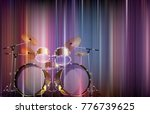abstract blue music background... | Shutterstock .eps vector #776739625
