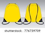 yellow drawstring bag for... | Shutterstock .eps vector #776739709