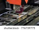 high precision cnc laser... | Shutterstock . vector #776739775