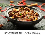 delicious mutton korma in clay... | Shutterstock . vector #776740117