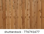 wooden fence background | Shutterstock . vector #776741677