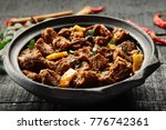 delicious goat meat curry... | Shutterstock . vector #776742361