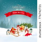 christmas holiday background... | Shutterstock .eps vector #776742721