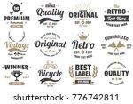 vintage retro vector labels for ... | Shutterstock .eps vector #776742811