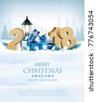 happy new year 2018 background... | Shutterstock .eps vector #776743054