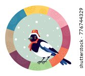 the magpie wearing a... | Shutterstock .eps vector #776744329