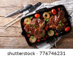 delicious t bone steak with... | Shutterstock . vector #776746231