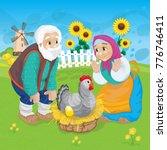 russian national fairy tale... | Shutterstock .eps vector #776746411