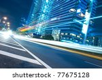the urban landscape at night...   Shutterstock . vector #77675128