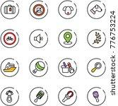 line vector icon set   suitcase ...   Shutterstock .eps vector #776753224