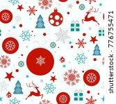 christmas background  seamless... | Shutterstock .eps vector #776755471
