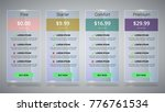 banners with tariffs plan.... | Shutterstock .eps vector #776761534