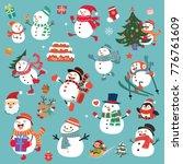 vintage christmas poster design ... | Shutterstock .eps vector #776761609