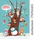 vintage christmas poster design ... | Shutterstock .eps vector #776761621