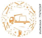 repair cars  tow truck ... | Shutterstock .eps vector #776762269