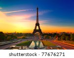 Sunrise in paris  with the...