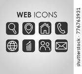web icons set illustration | Shutterstock .eps vector #776763931