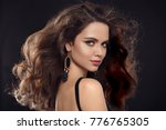 fashion portrait of gorgeous...   Shutterstock . vector #776765305