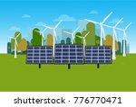 green energy concept nature... | Shutterstock .eps vector #776770471