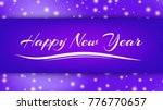 happy new year lettering on...   Shutterstock .eps vector #776770657
