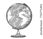 vector image of the globe in... | Shutterstock .eps vector #776771401