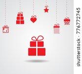love valentine present... | Shutterstock .eps vector #776772745